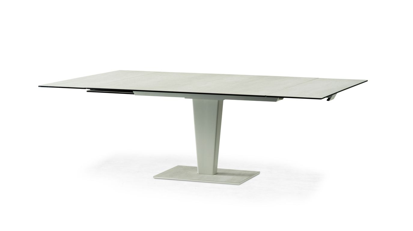 Osiris ceramique dining table roche bobois for Table extensible roche bobois