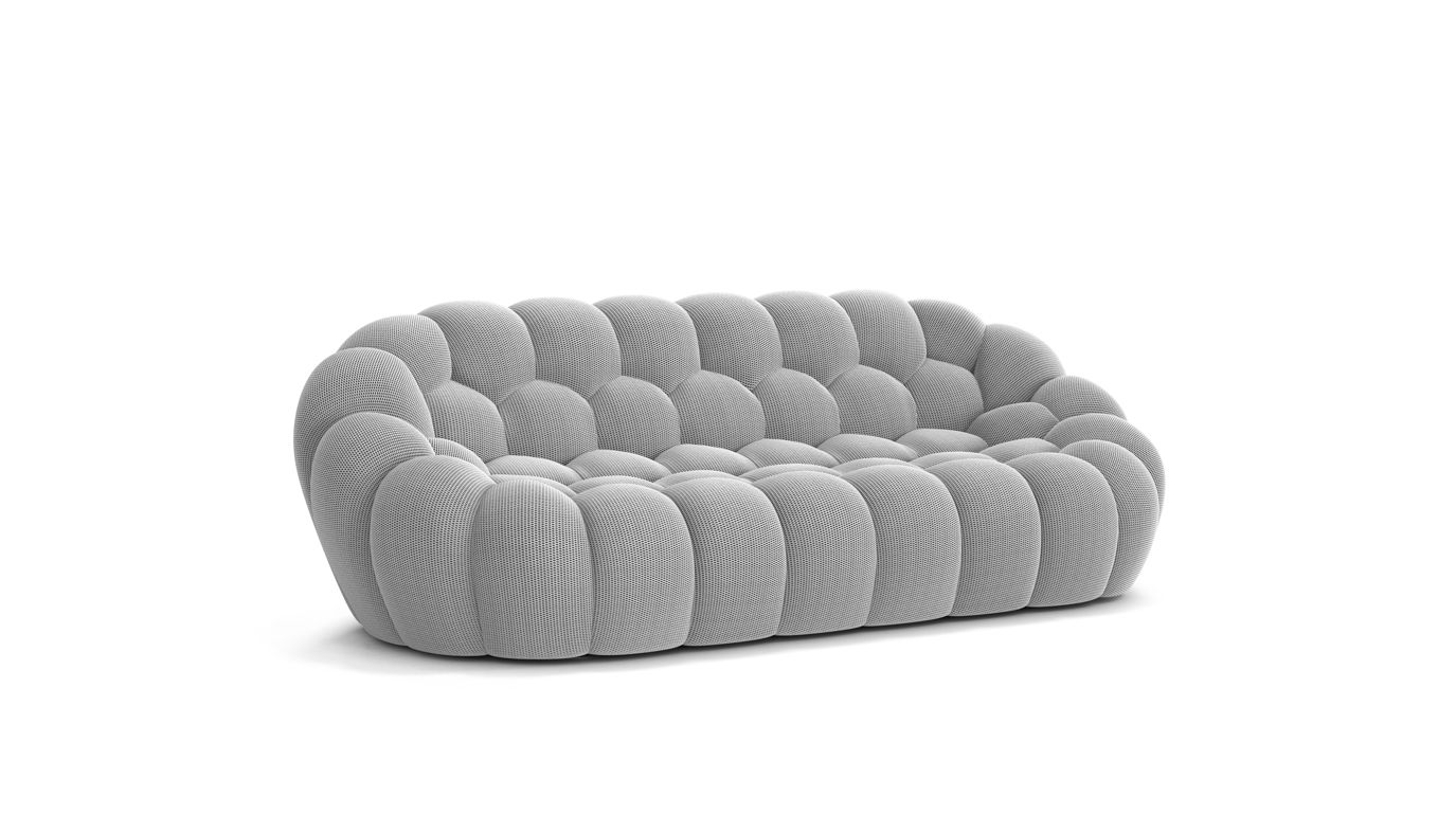 Bubble large 3 seat sofa roche bobois for Roche bobois france canape