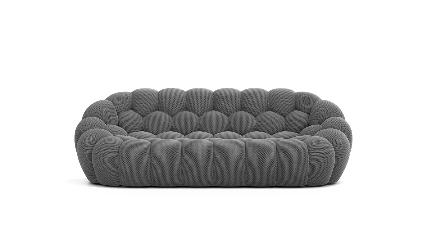 Grand canap 3 places bubble roche bobois for Prix canape interview roche bobois