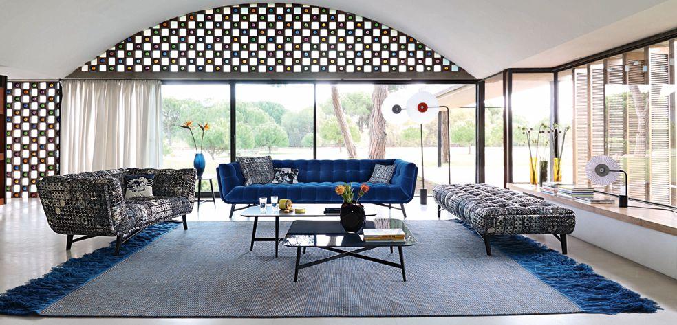 Profile large 4 seat sofa nouveaux classiques collection - Canape cuir roche bobois ...