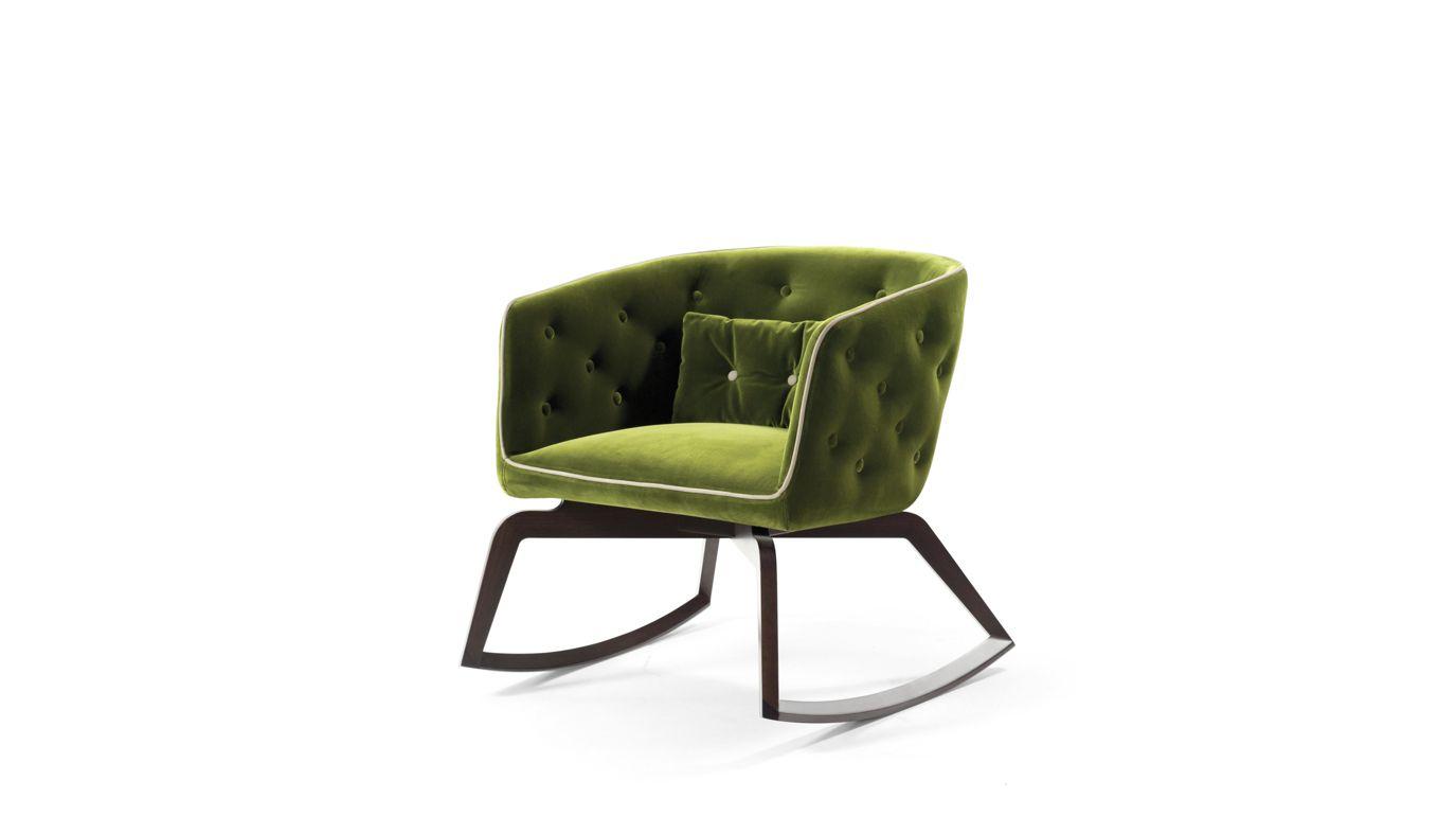 Fauteuil rocking chair quadrille roche bobois - Fauteuil roche bobois ...