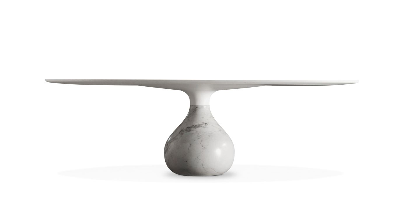 Aqua dining table roche bobois - Table ovale marbre roche bobois ...