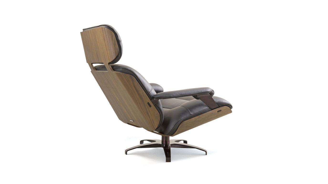 Athea pivoting armchair roche bobois for Chaise roche bobois cuir