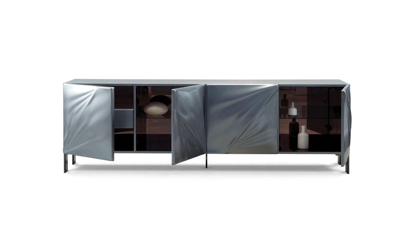 Satin sideboard roche bobois - Buffet contemporain roche bobois ...