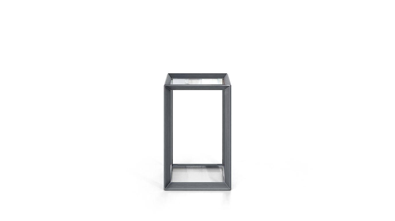 Mesa de centro metallica roche bobois - Mesa auxiliar metalica ...