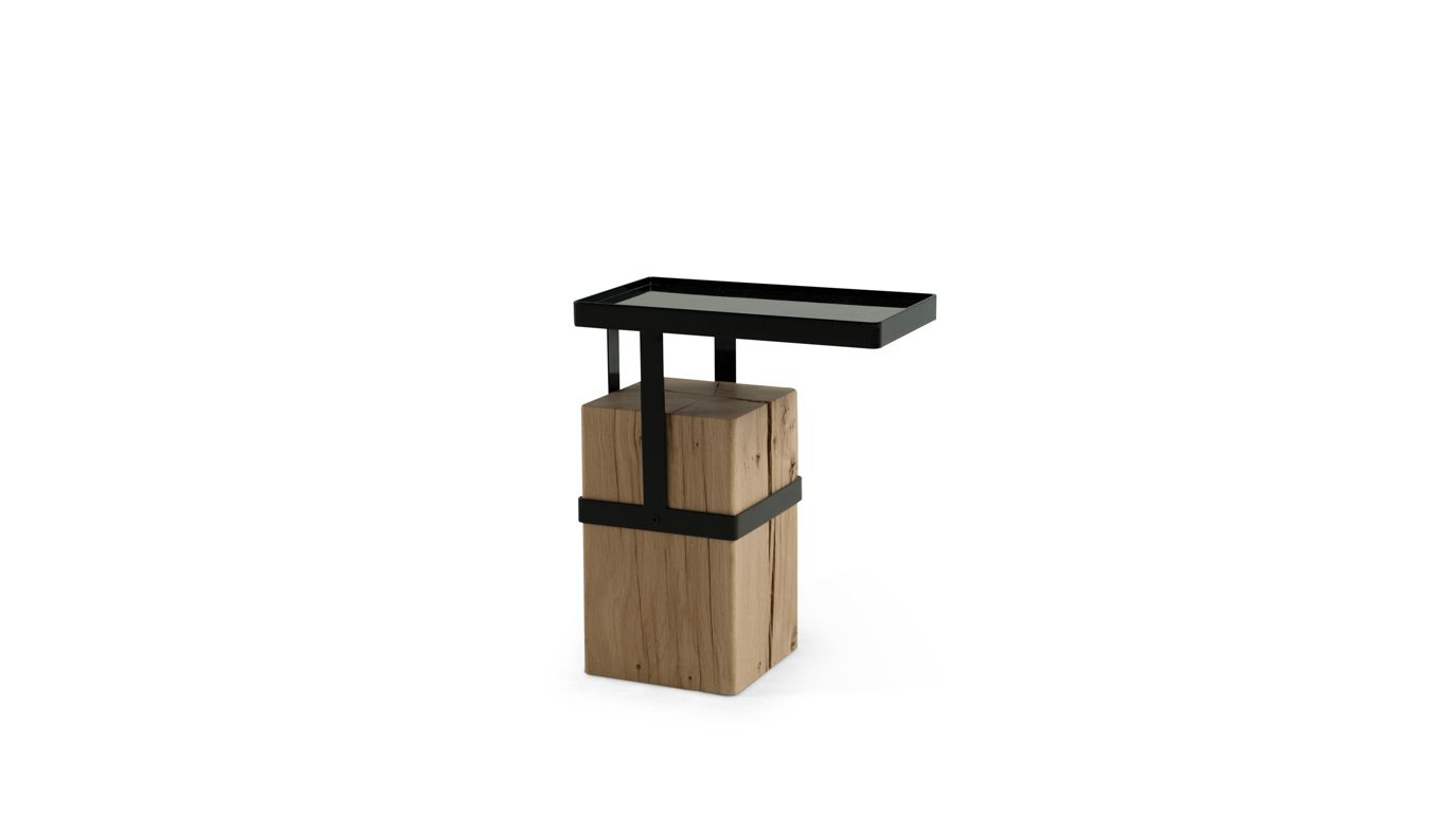 Tandem end table roche bobois for Table ardoise roche bobois