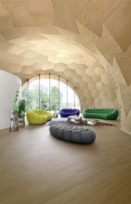 Incroyable BUBBLE CURVED 3 4 SEAT SOFA