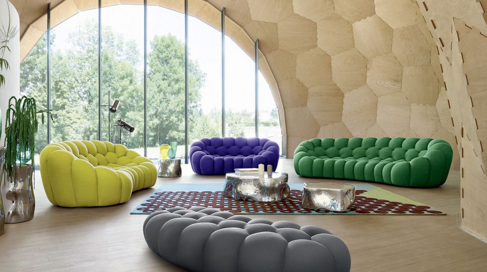 Fauteuil bubble roche bobois for Canape 2 places arrondi