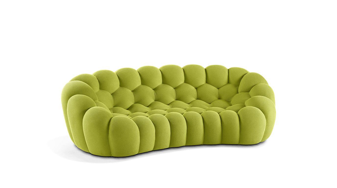 Bubble curved 3 4 seat sofa roche bobois for Canape en solde roche bobois