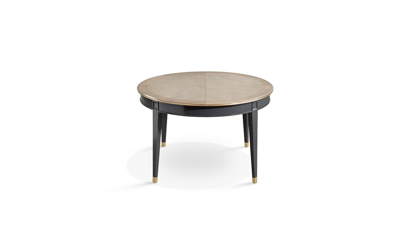 Coupole dining table nouveaux classiques collection for Table ronde design extensible