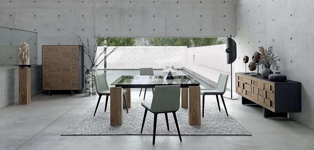 TÉNÉRÉ dining table - crossbars in metal - Roche Bobois