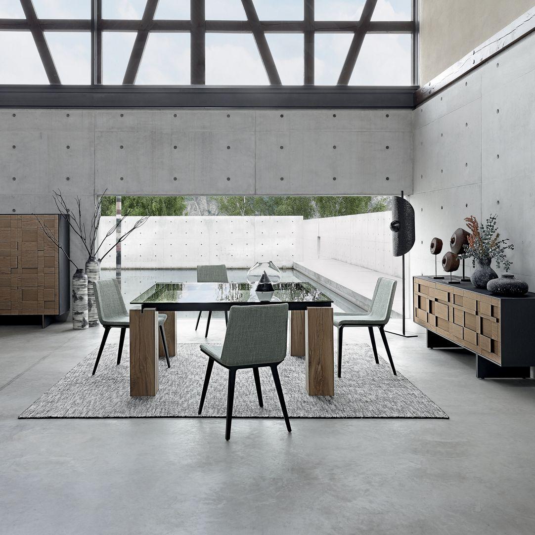 TÉNÉRÉ Table de repas - Traverses métal - Roche Bobois