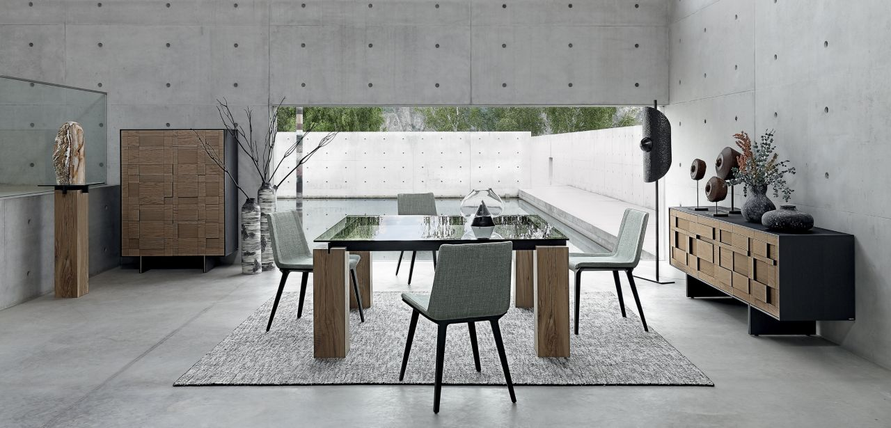 T n r dining table crossbars in metal roche bobois - Roche bobois table salle a manger ...