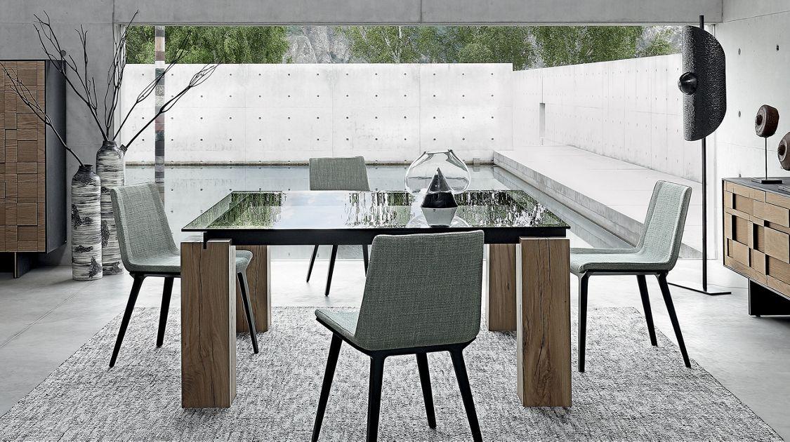 Roche Bobois Table Salle A Manger.Tenere Table De Repas Traverses Metal Tables De Repas