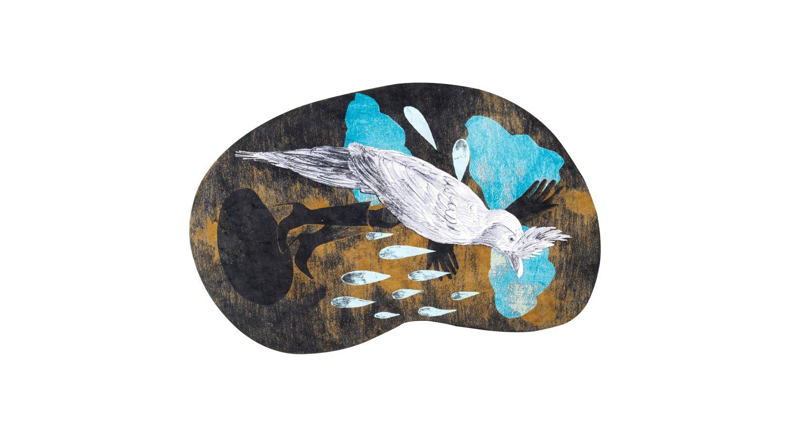l 39 oiseau botte tapis roche bobois. Black Bedroom Furniture Sets. Home Design Ideas