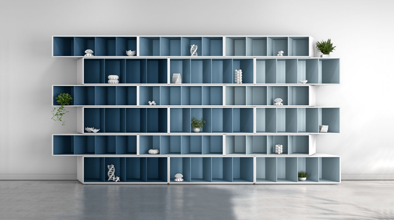 trinta bookcase taupe harmony roche bobois. Black Bedroom Furniture Sets. Home Design Ideas