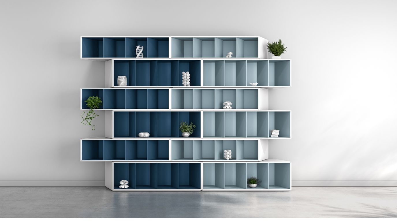 Trinta libreria armonia blu roche bobois for Libreria roche bobois