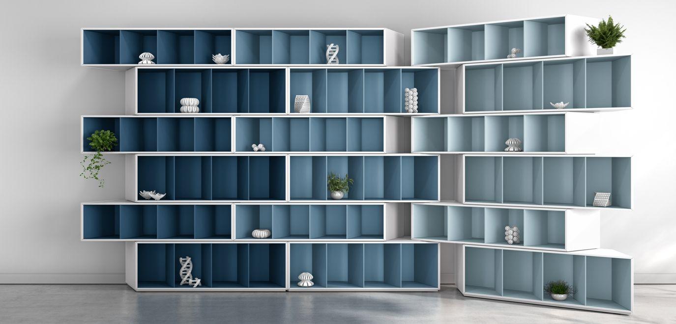 biblioth que harmonie bleue trinta roche bobois. Black Bedroom Furniture Sets. Home Design Ideas