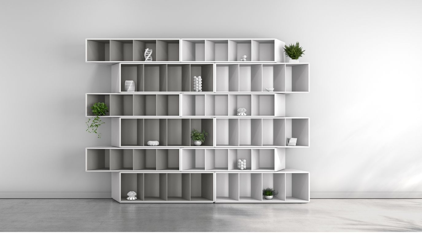 trinta bookcase grey harmony roche bobois. Black Bedroom Furniture Sets. Home Design Ideas