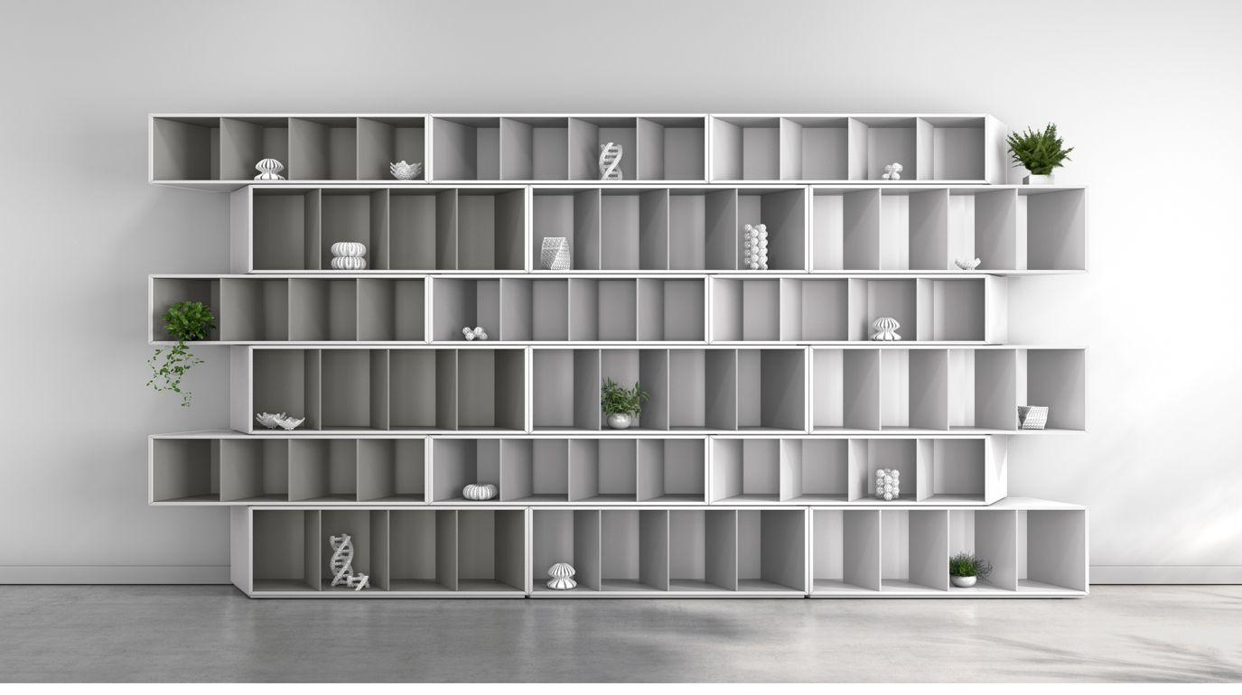 trinta bookcase grey harmony roche bobois. Black Bedroom Furniture Sets. Home Design Ideas