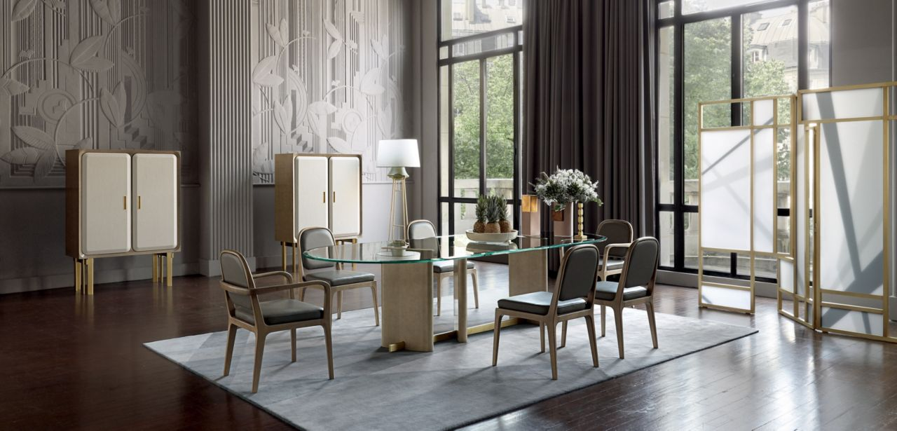 paris paname table repas plateau verre collection nouveaux classiques roche bobois. Black Bedroom Furniture Sets. Home Design Ideas