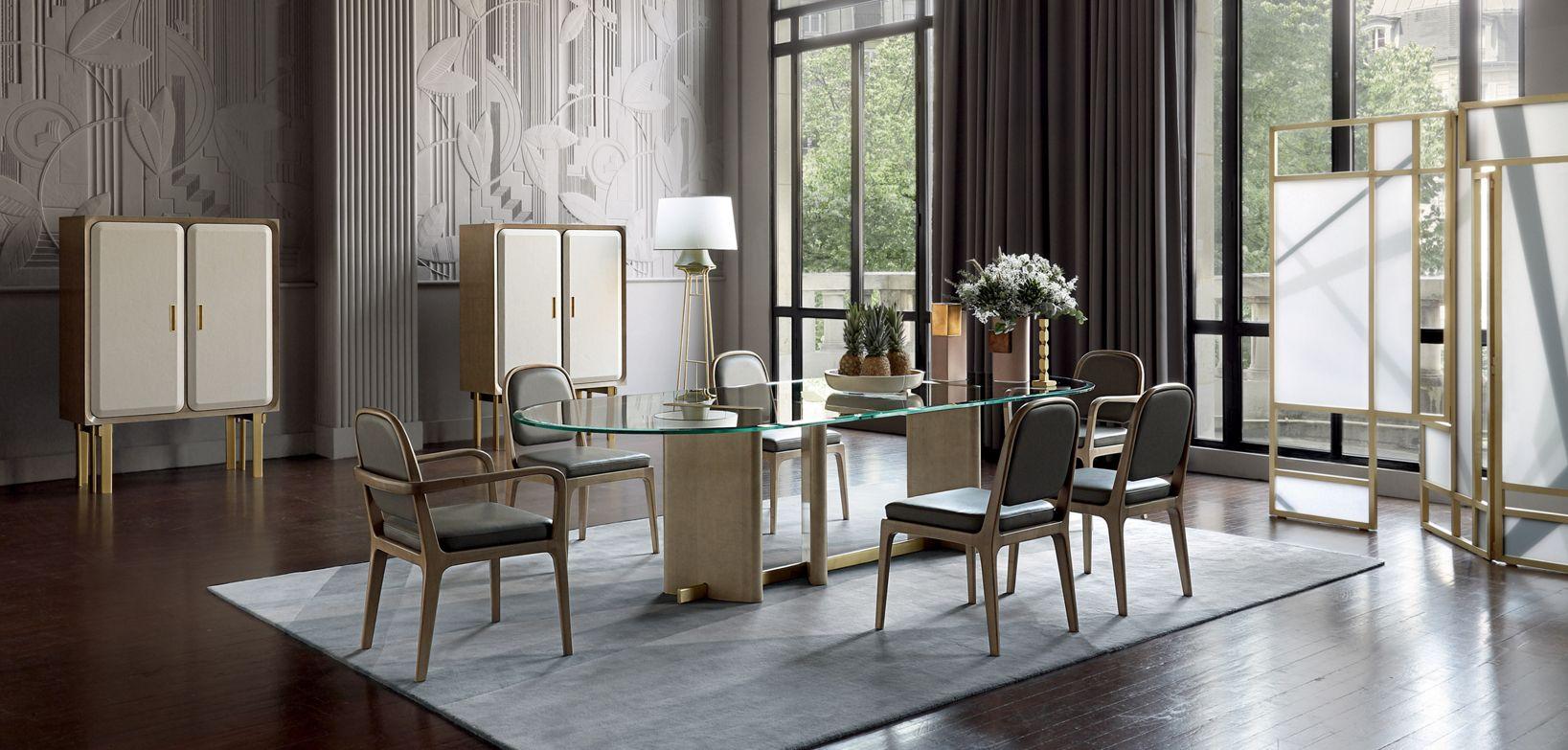 Salle A Manger Paris paris paname dining table - glass top | roche bobois