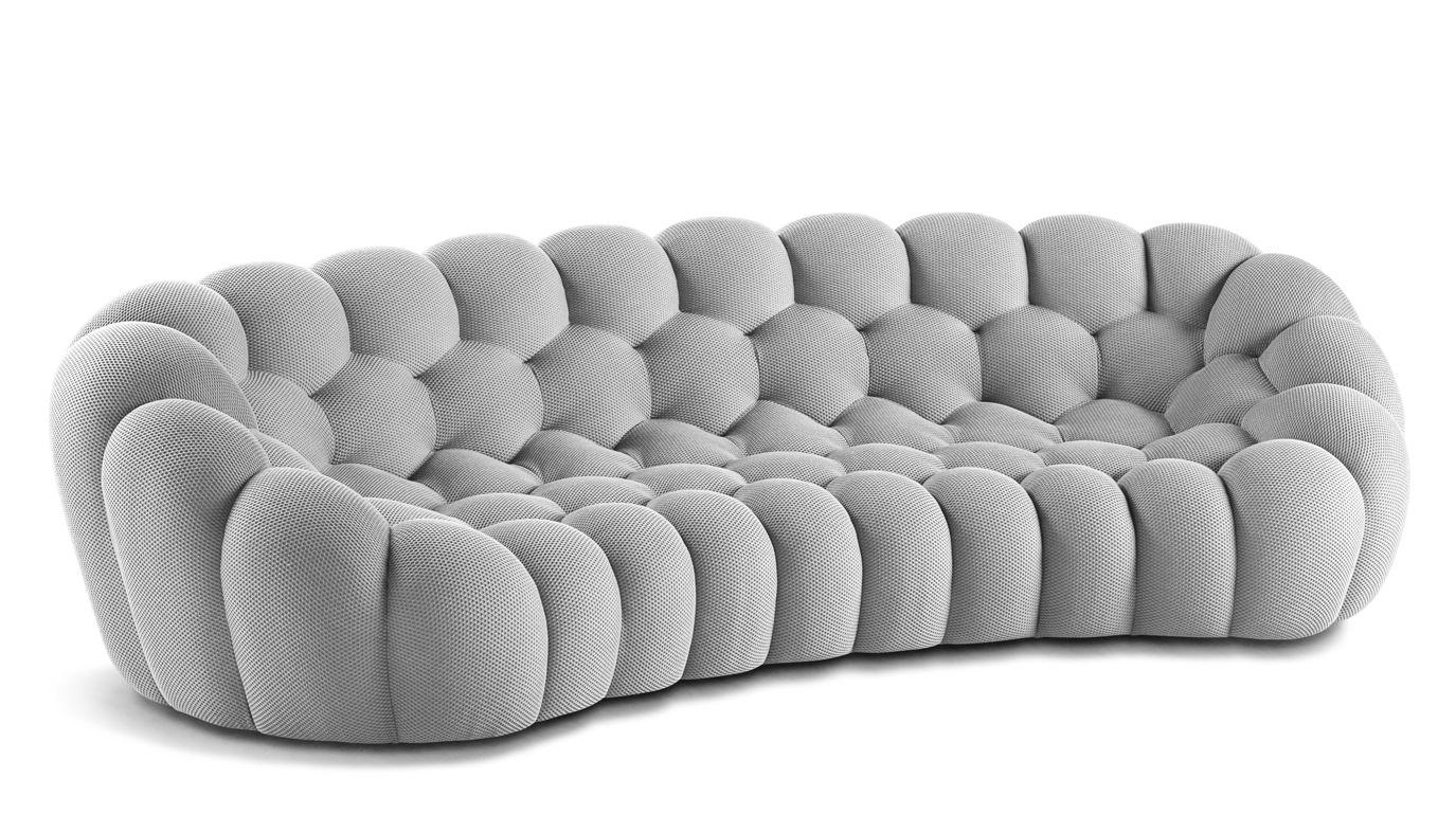 BUBBLE CURVED 5-SEAT SOFA - Roche Bobois