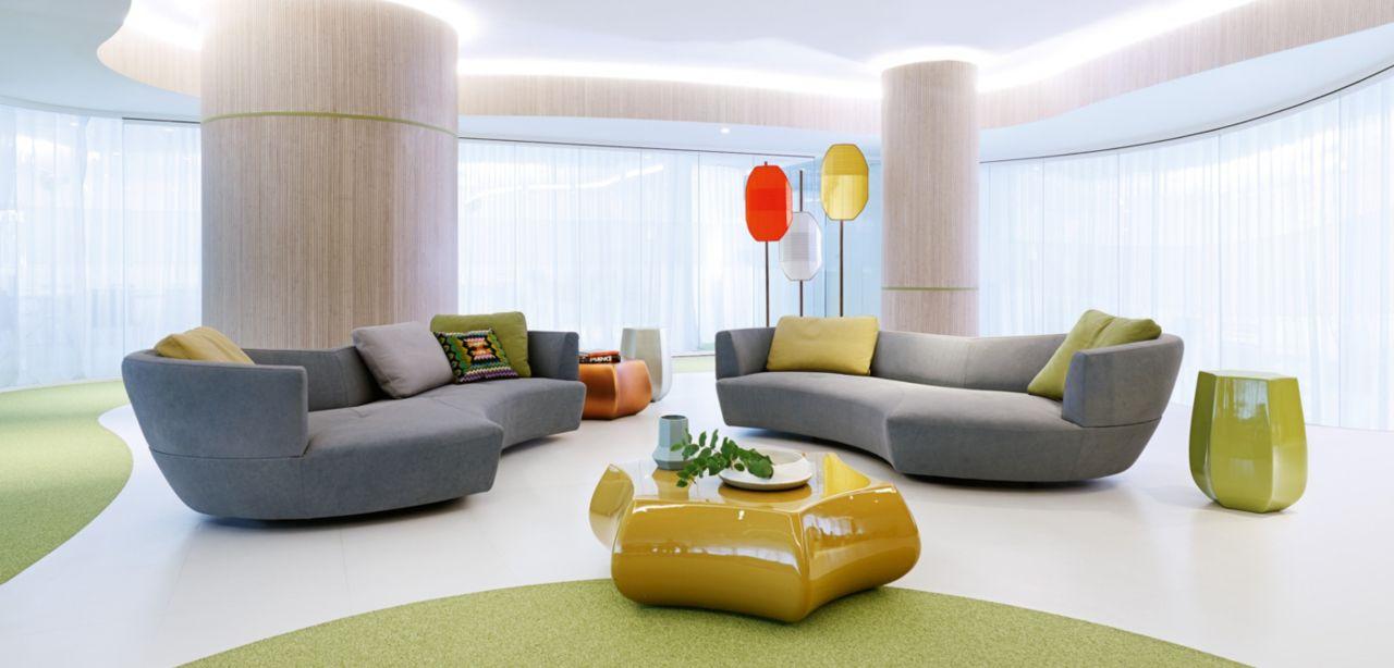 digital large round 3 seat sofa roche bobois. Black Bedroom Furniture Sets. Home Design Ideas
