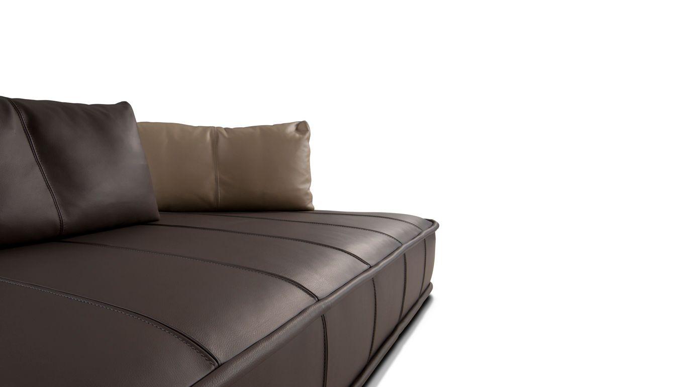 escapade cuir grande divano 3p roche bobois. Black Bedroom Furniture Sets. Home Design Ideas