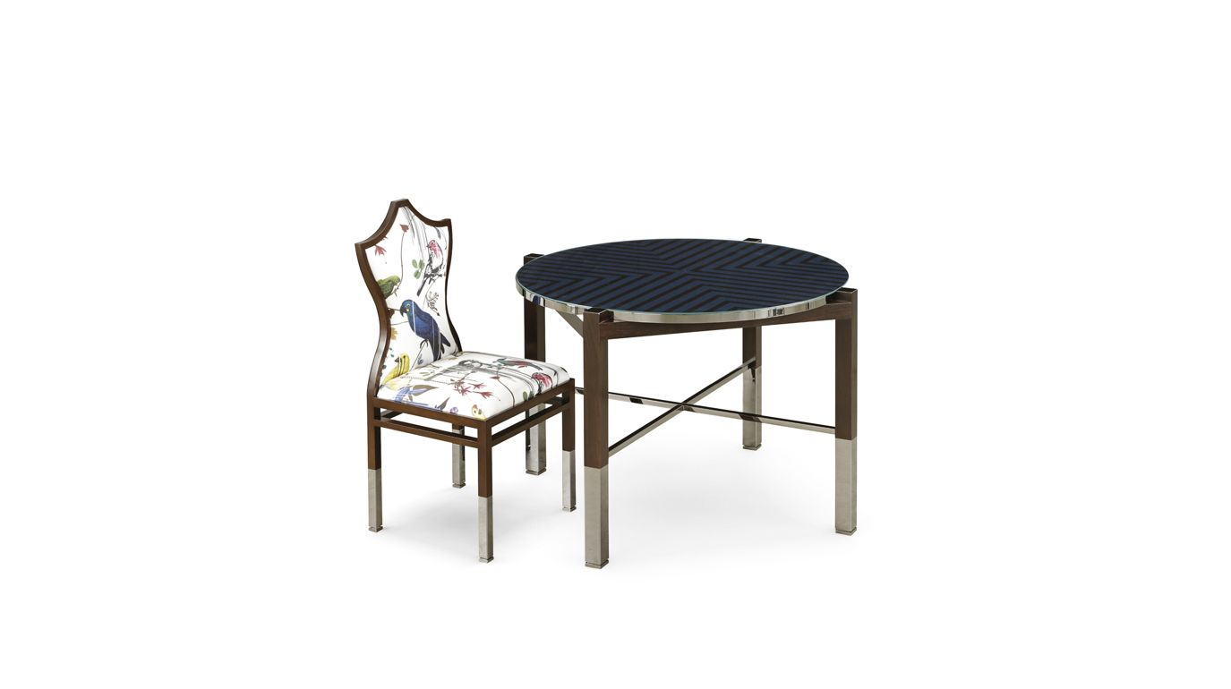 maison lacroix finition onyx game table nouveaux classiques collection roche bobois. Black Bedroom Furniture Sets. Home Design Ideas