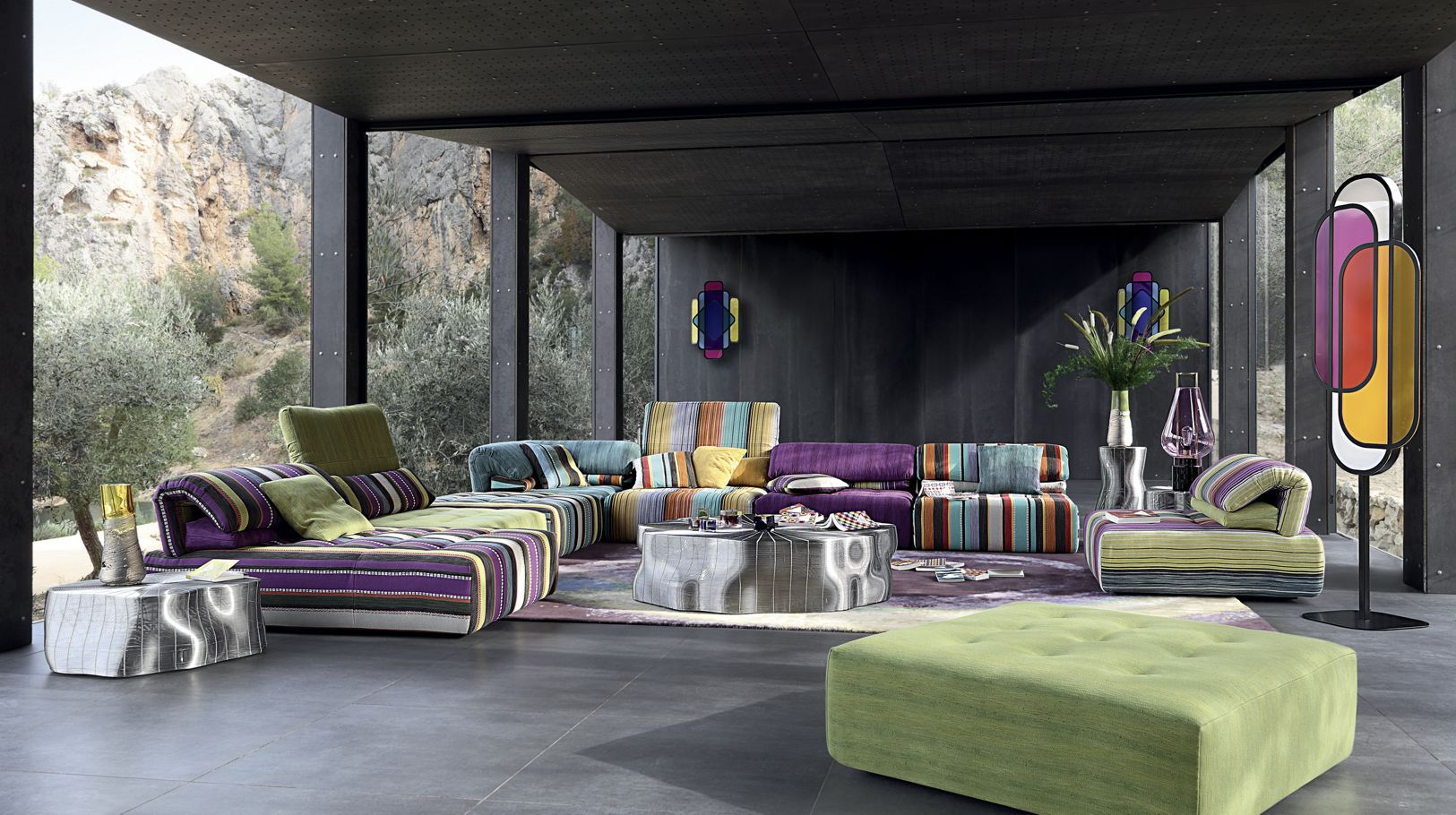 Purple Living Room Furniture. VOYAGE IMMOBILE Corner Composition SOFAS  SOFA BEDS all Roche Bobois products