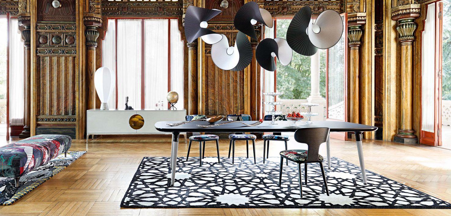 la parisienne rectangular dining table roche bobois. Black Bedroom Furniture Sets. Home Design Ideas