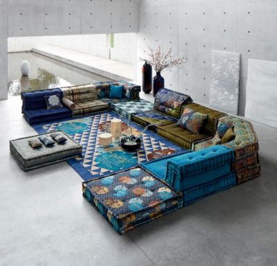 Delightful To U0027dressu0027 The Mah Jong Modular Sofa, Kenzo Takada Took Inspiration From  Ancient Kimonos Used In The Noh Theatre, Re Interpreting Their Patterns And  Colours ... Good Looking