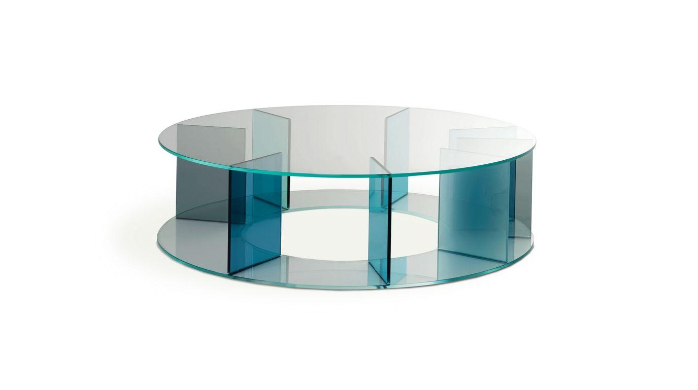 Tandem end table roche bobois for Table basse verre roche bobois